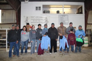 Clarence Armajo Memorial 2015-  Alfred Armajo Sr. and 3 family members.  Saddle Winner  Traci Hinman, 2nd Dustin Smith, 3rd Britt Givens, Family m