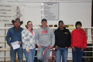 Jim Chavez Memorial 2015- Saddle winner Ryon Glick, 2nd Tara Peter, 3rd Corbin Nicholls, 4th Arlen Armajo and 5th Lane Hill